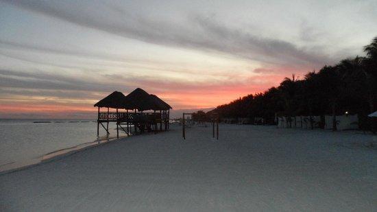 El Dorado Maroma, by Karisma:                   Sunset, beach adjacent hotel