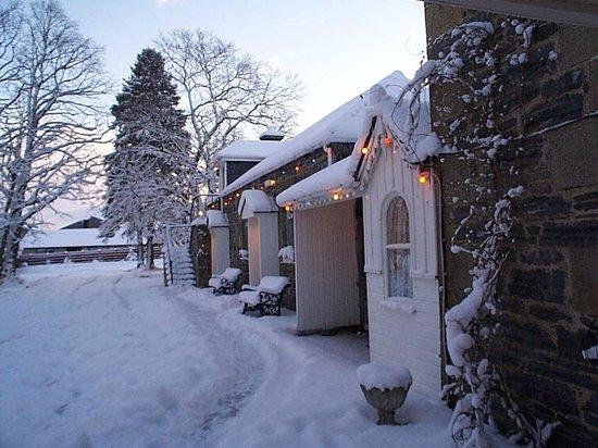 Columba House Hotel: A Beautiful Snowy Morning