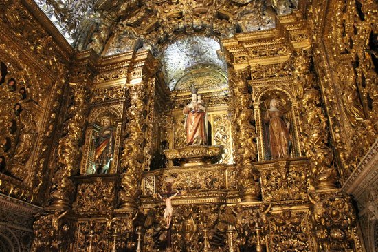 Igreja de São Roque:                   dorures à gogo