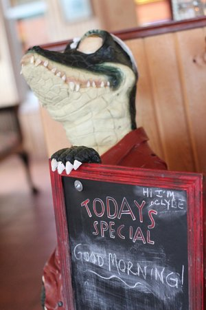 Whispering Pines Bed and Breakfast: Clyde the Crocodile :-)