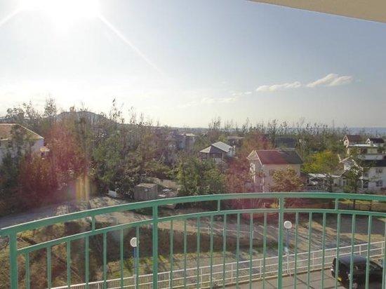 Ocean View In Kibogaoka:                   テラスから遠くに海