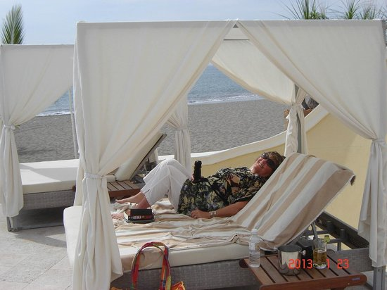 Casa Velas:                                     My  bed every day  at the beach