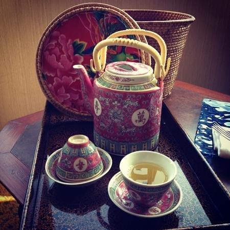 โรงแรมแกรนด์ ลาปา มาเก๊า แมนดาริน โอเรียนทัล:                   Welcome Tea