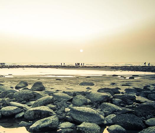 Cox's Bazar, Bangladesch:                                                       Sunset at Inani Beach