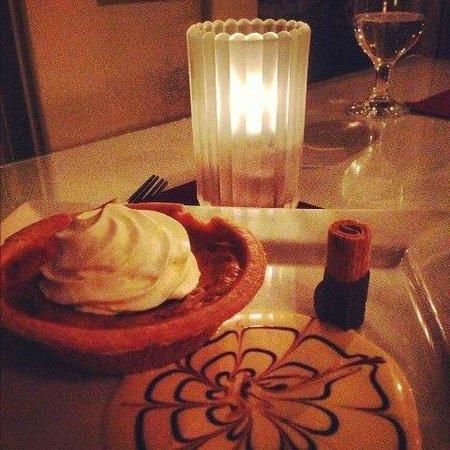 Restaurant On The Knoll :                                     A third course, dessert option. Homemade pumpkin tart.