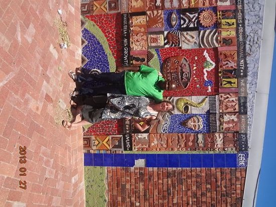 Siviwe Township Tours: Myself and Gladstone at cultural center