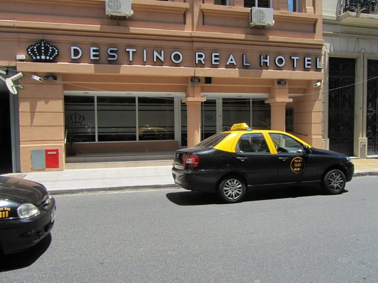 Destino Real Hotel:                   From across the street - taxis pass all the time!