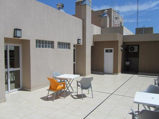 Destino Real Hotel:                   Smokers Terrace!