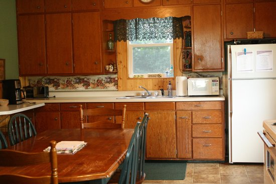 Odessa, MN: A view of the kitchen at Stoney Run Lodge