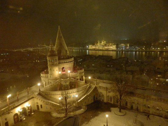 Hilton Budapest:                   View from our window