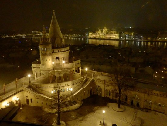 Hilton Budapest:                   View from room
