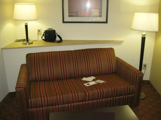 Comfort Suites Salem: couch