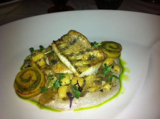 Arany Kaviár Restaurant:                   Pikeperch fillet with chive flavoured potatoe dumplings and forest mushrooms