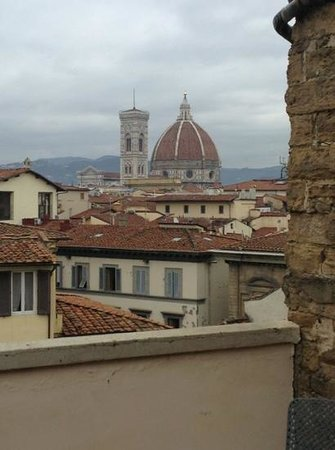 Antica Torre di Via Tornabuoni:                   the amazing view from our balcony.