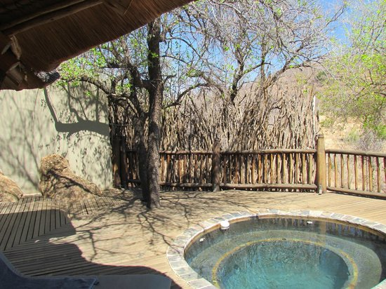 Etali Safari Lodge:                   Private viewing deck with plunge pool