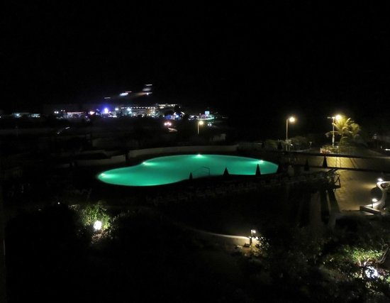 Royal Islander Club La Plage:                   View of pool at night, with SSBC in background