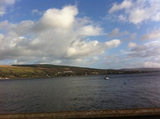 Cafe at Kilcreggan:                   the view