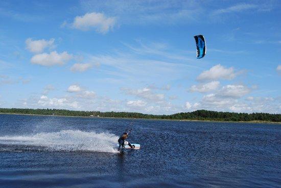 Kitesurfing Center Stockholm: 20 knot wind