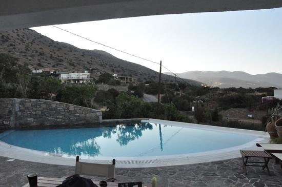 Elounda Gulf Villas & Suites:                   the view from our room. nice telegraph pole! plus drivers look in from he road