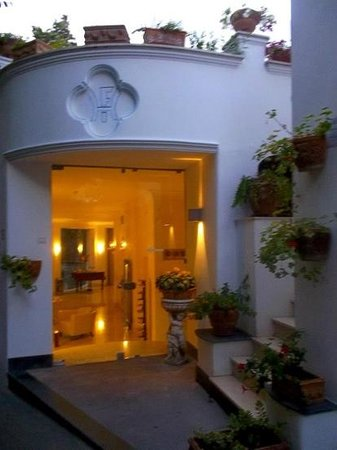 Hotel La Floridiana:                   entrance