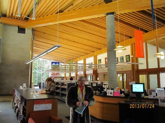 Whistler Public Library:                   very bright