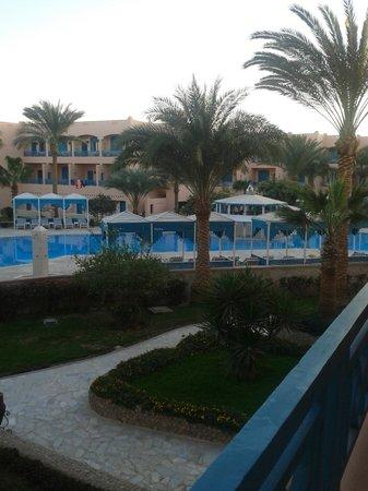 Le Pacha Resort:                   utsikt från balkongen