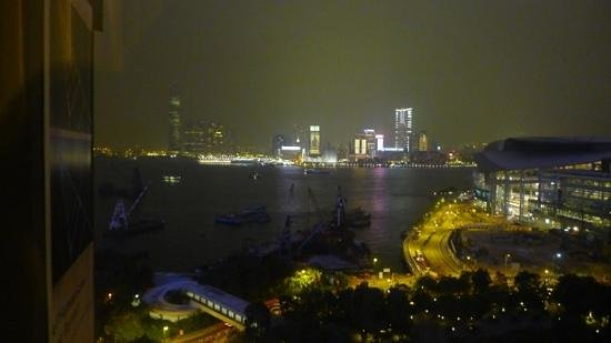 The Harbourview Hong Kong:                   12 th floor room view by night