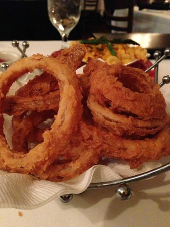 J. Bruner's Restaurant:                   Onion Rings - The most amazing thing you could ever eat!