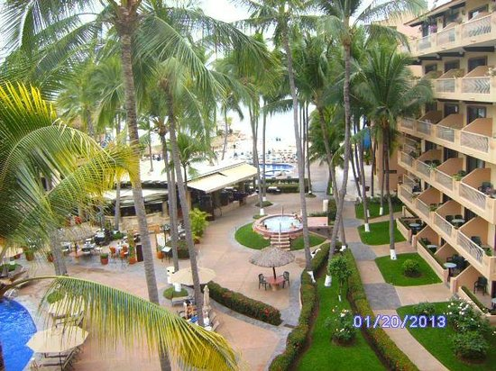 Villa del Palmar Beach Resort & Spa:                   Balcony View of beach
