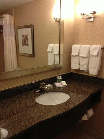 Hilton Garden Inn Columbia / Northeast:                                     lots of sink area