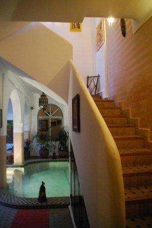 Riad Limouna:                   Escalier des chambres