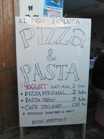 El Menu de Luca:                   menu