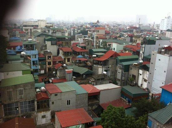 Hanoi View 2 Hotel :                   Skyline from 8th floor balcony.