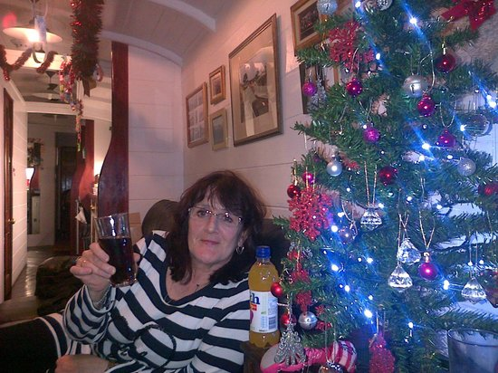 Railholiday - The Old Luggage Van and The Travelling Post Office:                                     my mother in the living room
