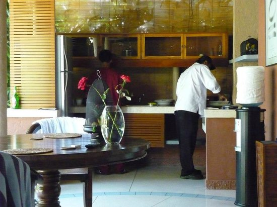 The Villas Bali Hotel & Spa:                                     Personal Chefs cooking breakfast in the villa daily