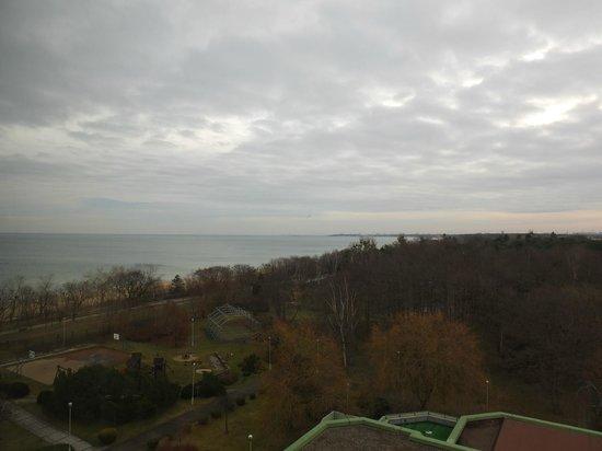 Novotel Gdansk Marina:                   Widok z okna pokoju na 6 piętrze