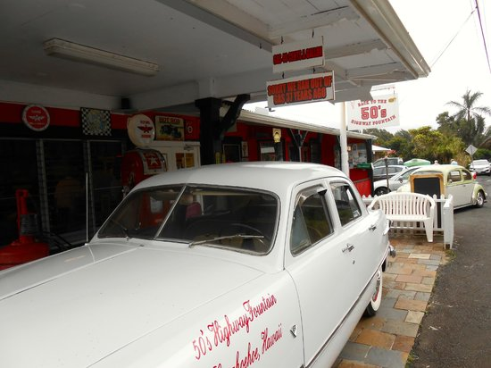 """50's Highway Fountain Diner:                                     Outside """"Back to the 50's Diner."""" Just plain fun."""