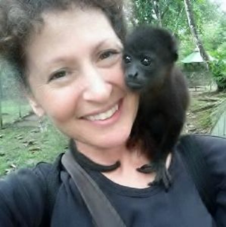 Costa Rica Wildlife Sanctuary:                   The sweet baby monkey I got to spend time with.