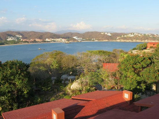 Las Brisas Huatulco:                   view from our 3rd floor room