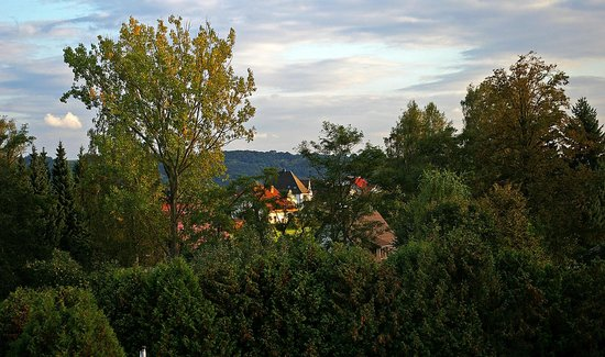 Hotel Sonnenhof: view of Obersuhl from our room