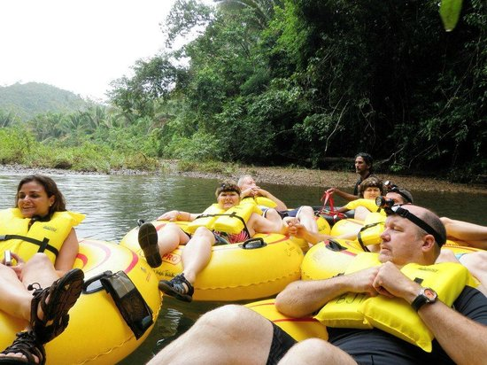 Cave Tubing & Zip Line with Explore Belize Caves:                   Belize Cavetubing