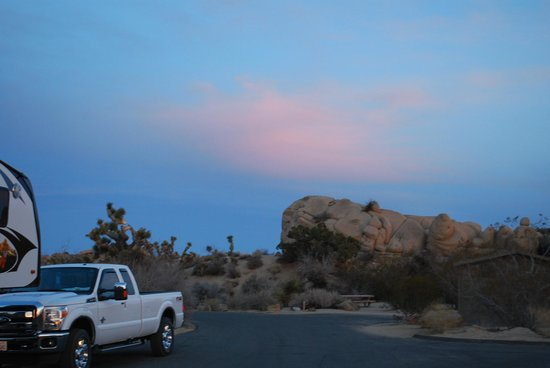 Jumbo Rocks Campground:                   Sunset at the campsite