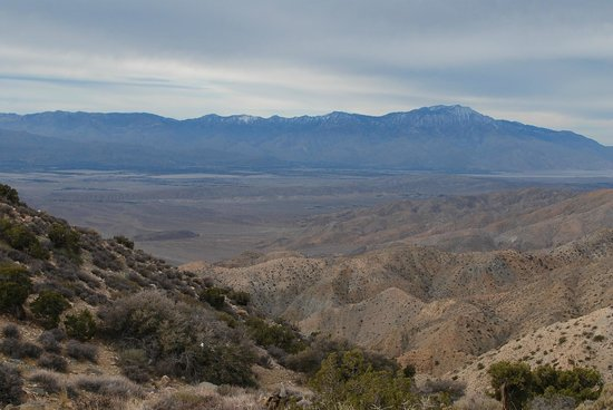 Jumbo Rocks Campground:                   Palm Springs valley as seen from Keys View.