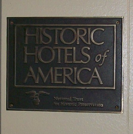 Hotel San Carlos: Historic designation plaque