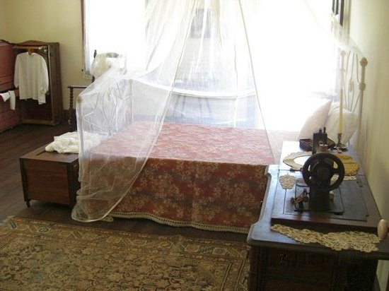 Koreshan State Historic Site: One of the bedrooms inside the Main House