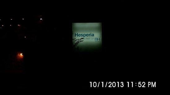 Hesperia Playa El Agua:                   la entrada