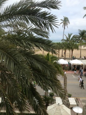 The Tides South Beach:                   View from second floor room during festival