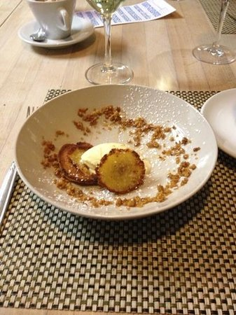 Talula's Pizza:                   The most delicious dessert ever! Polenta cakes with rosemary ice cream!