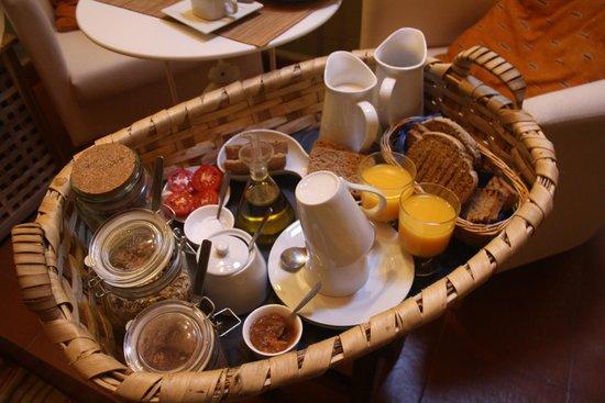 Caserio da Castiñeira: Desayuno en la cama
