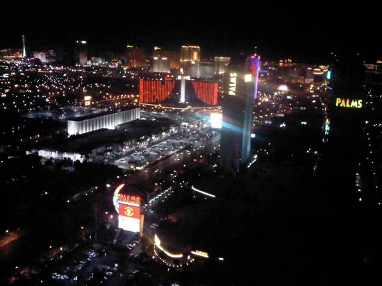 Palms Casino Resort: 52nd floor view of the strip